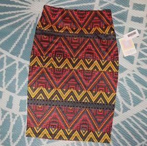 "LuLaRoe ""Cassie"" tribal Print pencil skirt"